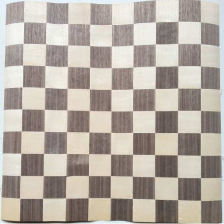 Marqueterie Damier Noyer/Sycomore 40 x 40cm-Placages et Filets GAUTHEY